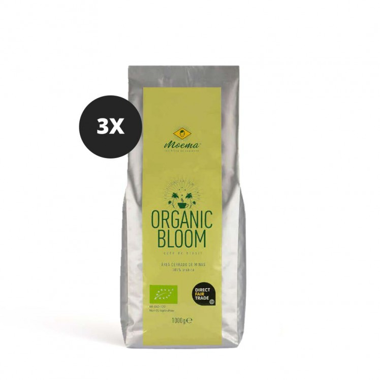 Moema | Espresso-Kaffee | Organic Bloom | 3er Set | 3000g