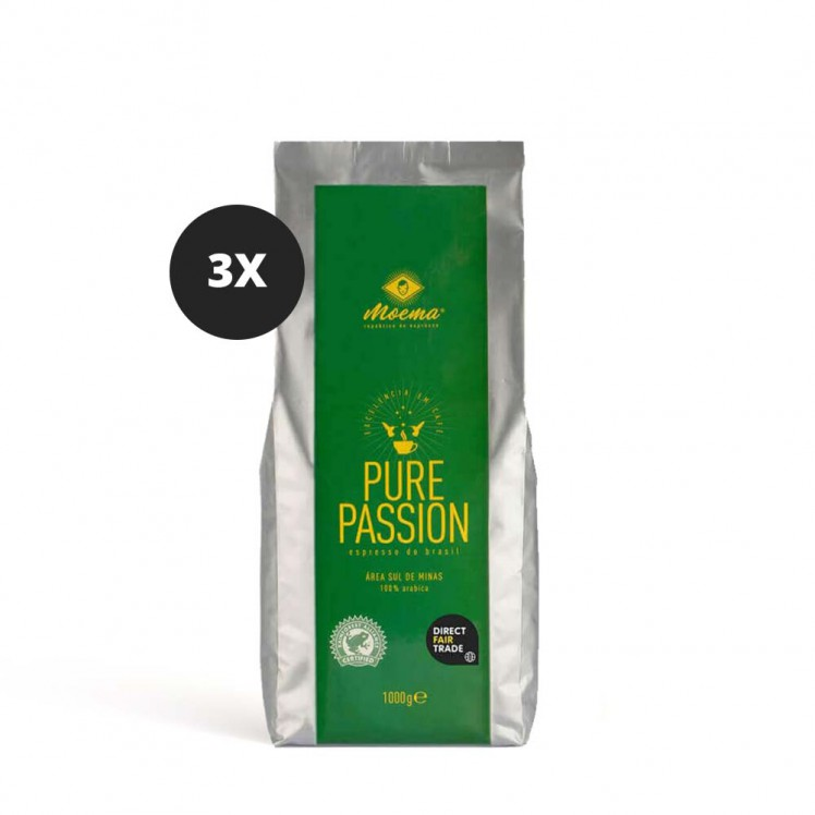 Moema | Espresso-Kaffee | Pure Passion | 3er Set | 3000g