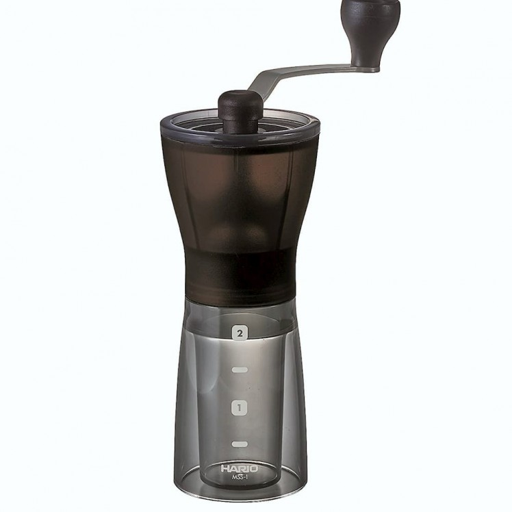 Hario Mini Mill Slim PLUS Kaffeemühle Detail Vorderansicht